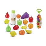 Ecoiffier Netz mit Spiel-Lebensmitteln Spielzeug Essen Lebensmittel Kaufladen Spiel 14-tlg.