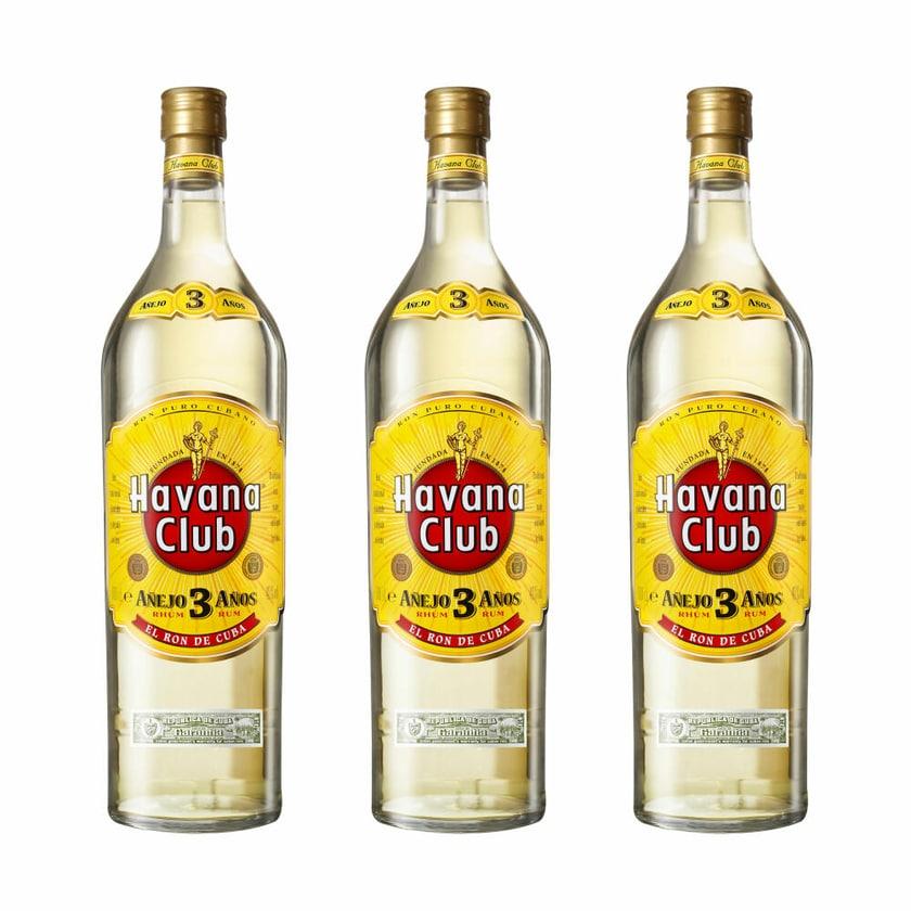 Havana Club Añejo 3 Años 40% 3x3 L