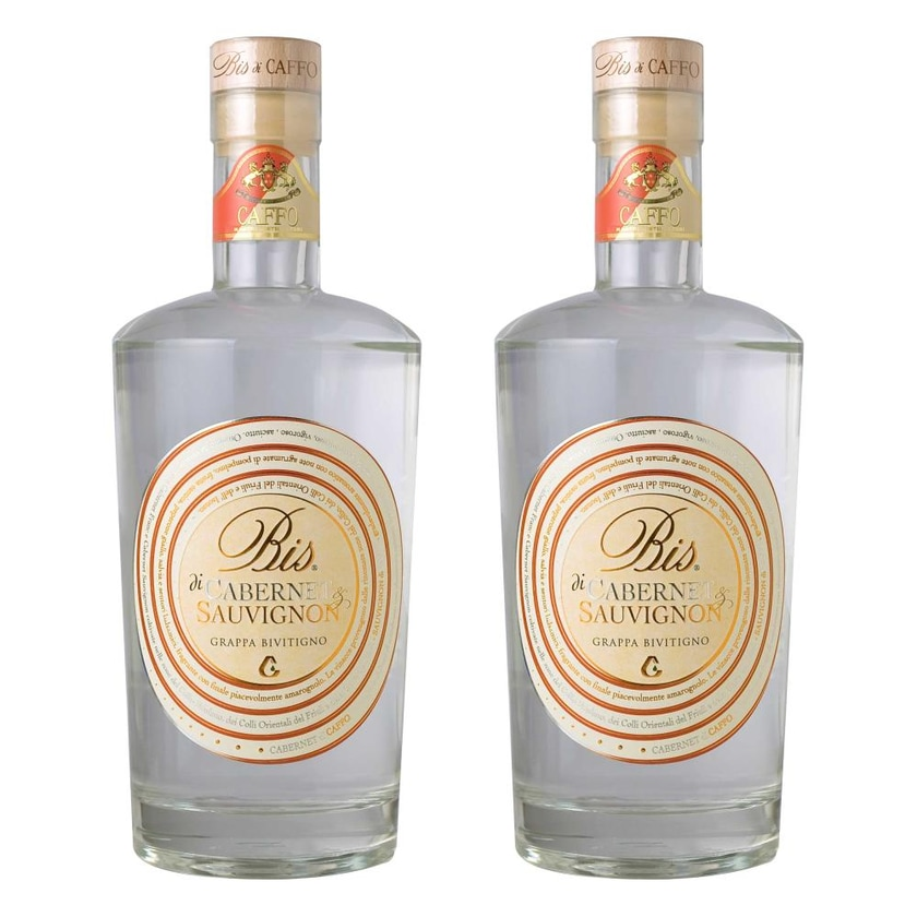 Grappa Bis Cabernet & Sauvignon 40% 2x700 ml