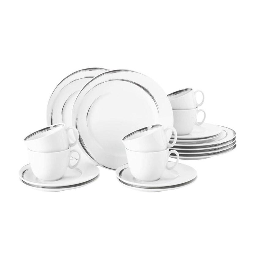 Seltmann Weiden Paso Grey Brush Kaffeeservice 18-teilig
