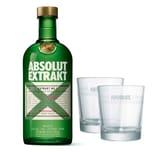 Absolut Vodka Extrakt Set mit 2 Gläsern 35% 700 ml