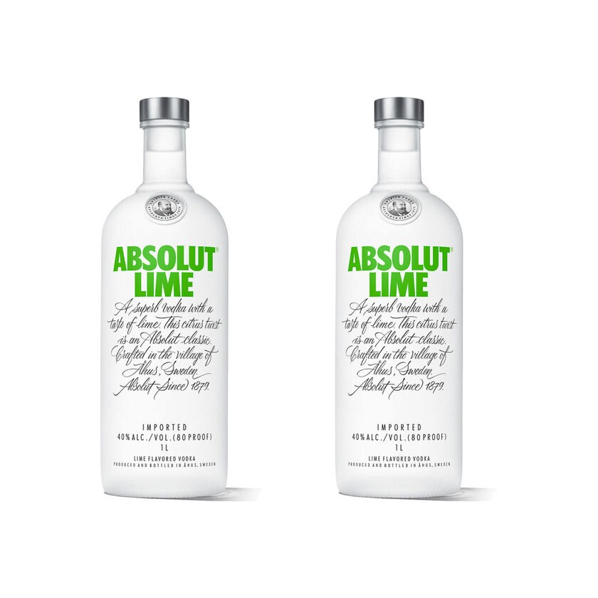 Absolut Vodka Lime 40% 2x1 L
