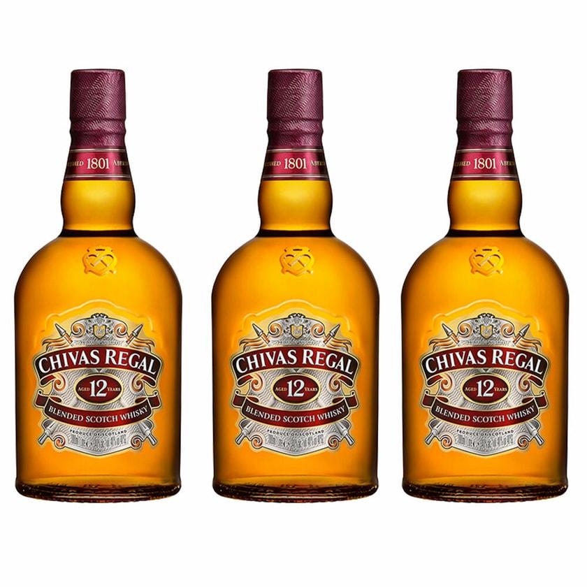 Chivas Regal 12 Jahre Blended Scotch Whisky 40% 3x1 L
