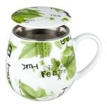 Könitz Tea Collage Becher mit Sieb und Deckel 420 ml