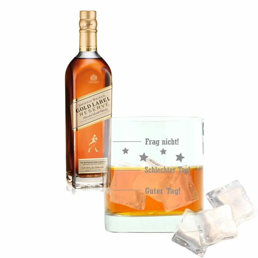 Johnnie Walker Gold Label Reserve mit graviertem Glas 40% 700 ml