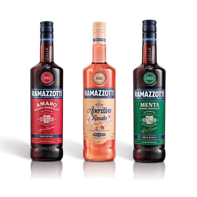 Ramazzotti Sammelset Amaro + Aperitivo + Menta 2x1 L + 700 ml