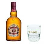 Chivas Regal 12 Jahre Blended Scotch Whisky mit Tumbler Glas 40% 1 L