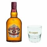 Chivas Regal 12 Jahre Blended Scotch Whisky mit Tumbler Glas 40% 1 L