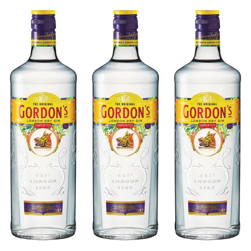 Gordons London Dry Gin 37.5% 3x700 ml