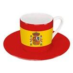 Könitz Spanien Flagge Espressotasse mit Untertasse 85 ml
