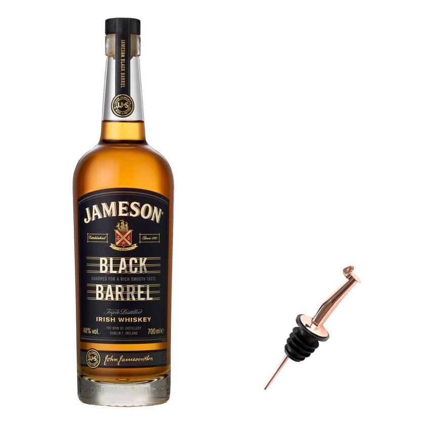 Jameson Black Barrel Set mit Pourer 40% 700 ml