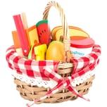 Legler Picknickkorb mit Schneide-Lebensmittel
