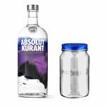 Absolut Vodka Kurant Set mit Absolut Jar 40% 1 L