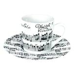 Könitz Vivaldi Libretto Weiß Espressotasse mit Untertasse 85 ml