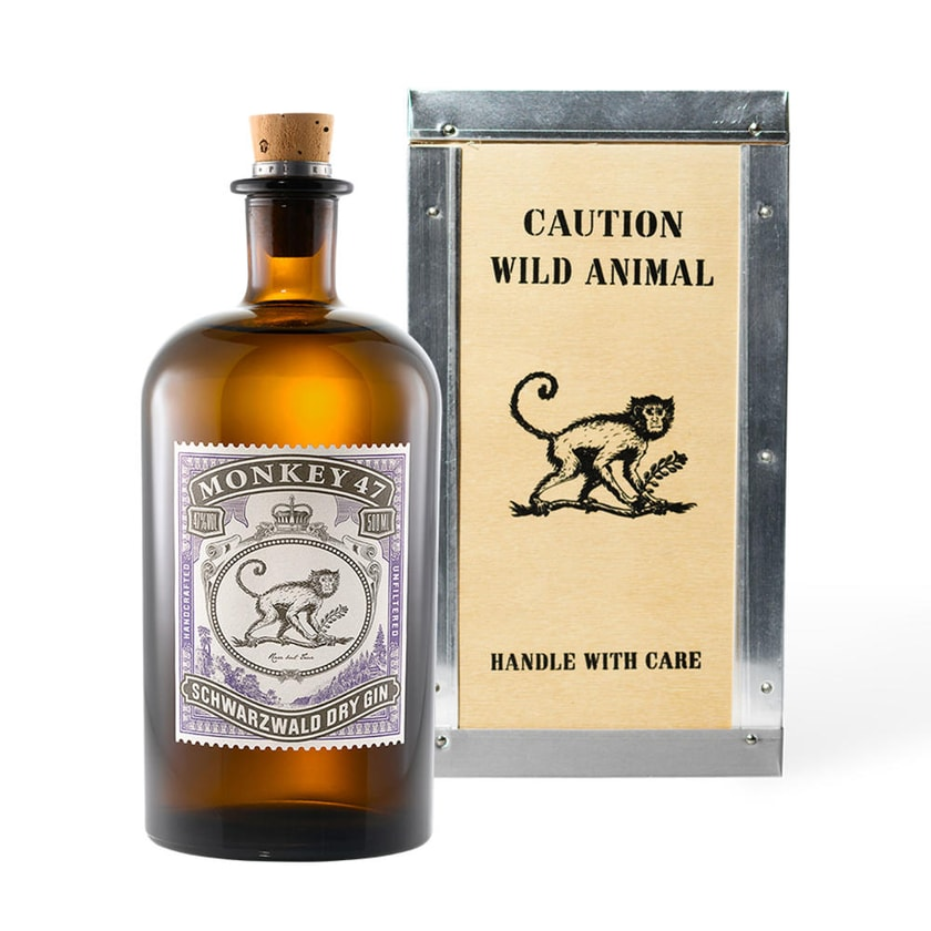 Monkey 47 Schwarzwald Dry Gin in Holzbox 47% 500 ml