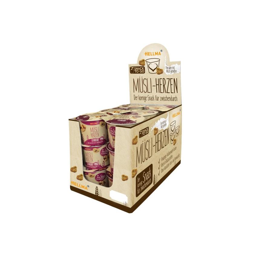 Hellma Müsliherzen Cranberry 18 Stück á 30 g