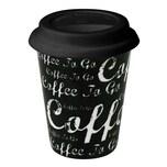 Könitz Schrift auf Schwarz Coffee to go Mug 380 ml
