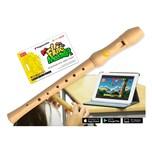 Voggenreiter Flute Master App mit Blockflöte Deutsche Griffweise Holz Bergahorn