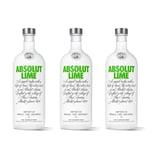 Absolut Vodka Lime 40% 3x1 L