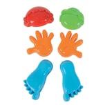 Simba 6 Sandformen Körperteile