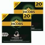 Jacobs Espresso 12 Ristretto 2 x 20 Kapseln