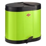 Wesco Doppel-Abfallsammler Öko-Sammler 170 Limegreen 2 x 15 L