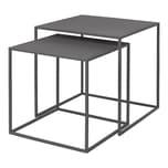 Blomus Fera Set 2 Beistelltische Steel gray