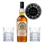 Game of Thrones Haus Tyrell Set Clynelish Reserve Whisky + 2 gravierte Whiskygläser 51.2% 700 ml