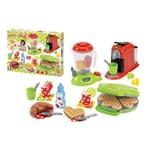 Ecoiffier Frühstücks-Set mit Waffeleisen Frühstück Kochen Zubehör Spielzeug Kinder Spiel 28-tlg.