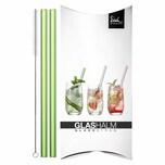Eisch Glashalm 2er Set Gentleman Grün 20 cm