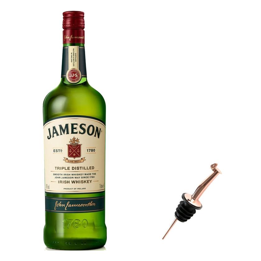 Jameson Irish Whiskey Set mit Pourer 40% 1 L