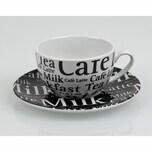 Könitz Coffee Bar No 11a Café Latte Schrift 2er Set mit Untertassen