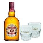 Chivas Regal 12 Jahre Blended Scotch Whisky Set mit 2 Gläsern 40% 1 L