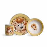 Ritzenhoff & Breker Kinderset Happy Zoo - Löwe Leo 3-teilig