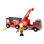 BRIO Feuerwehr-Leiterfahrzeug mit Licht & Sound 3-tlg.