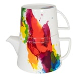 Könitz Tea For Me On Colour Flow Kanne mit Deckel und Becher