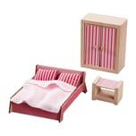 HABA Little Friends Puppenhaus Möbel Schlafzimmer Für Erwachsene