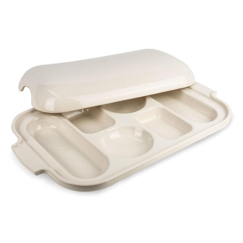 Peugeot Appolia Keramik-Backblech für 6 Brötchen ecru