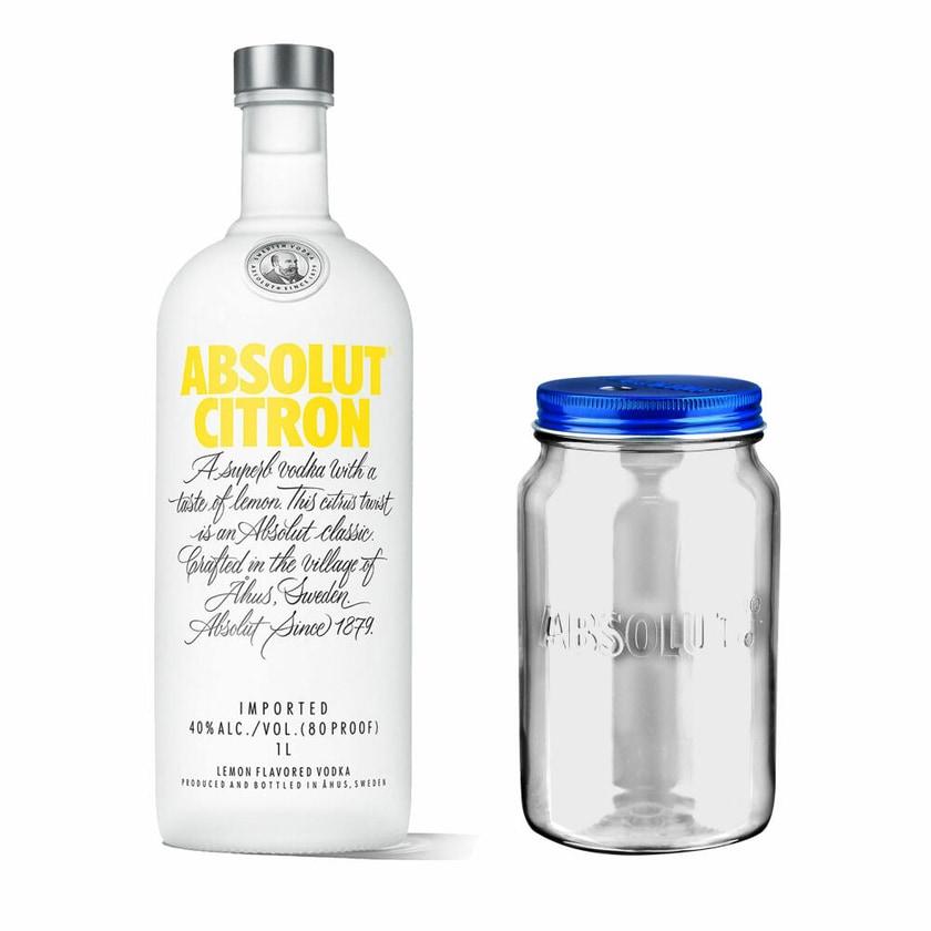 Absolut Vodka Citron Set mit Absolut Jar 40% 1 L