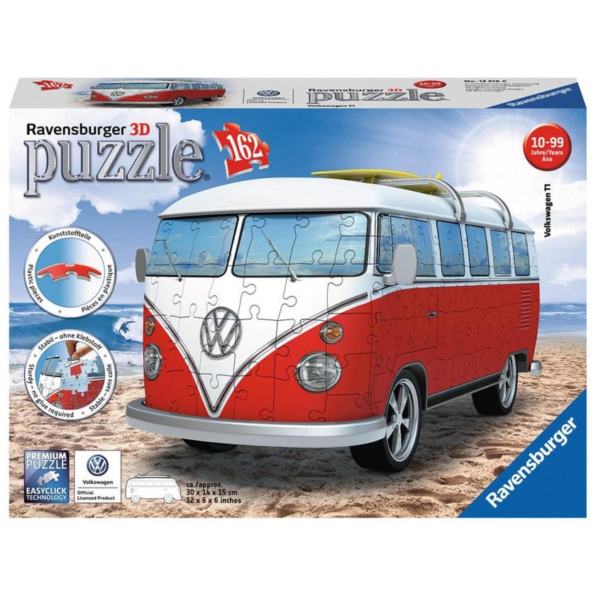 Ravensburger 3D Puzzle Fahrzeuge Volkswagen T1 Surfer Edition 162 Teile