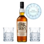 Game of Thrones Haus Targaryen Set Cardhu Gold Reserve + 2 gravierte Whiskygläser 40% 700 ml