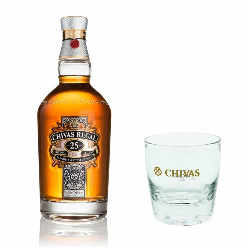 Chivas Regal 25 Jahre mit Tumbler Glas 40% 700 ml