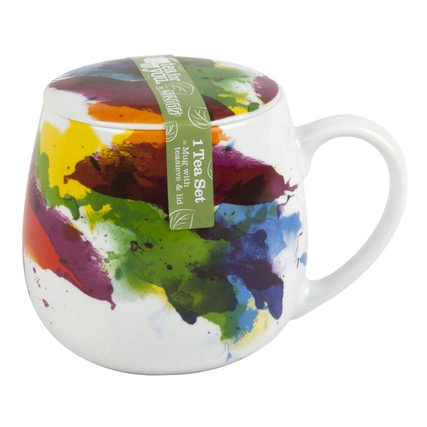 Könitz On Colour Flow Becher mit Sieb und Deckel 420 ml