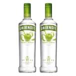 Smirnoff No. 21 Vodka Triple Destilled Flavour Green Apple 37.5% 2x700 ml