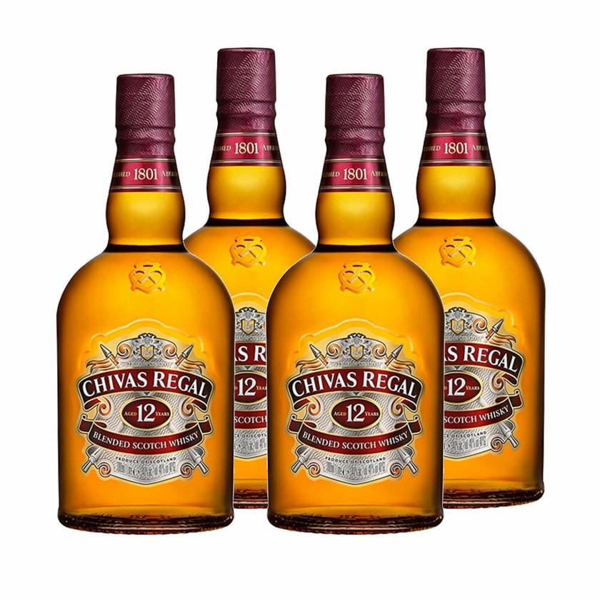 Chivas Regal 12 Jahre Blended Scotch Whisky 40% 4x1 L