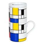 Könitz Hommage to Mondrian Small Fragments Coffee For One Kaffeefilterset 3-teilig
