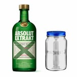 Absolut Vodka Extrakt Set mit Absolut Jar 35% 700 ml