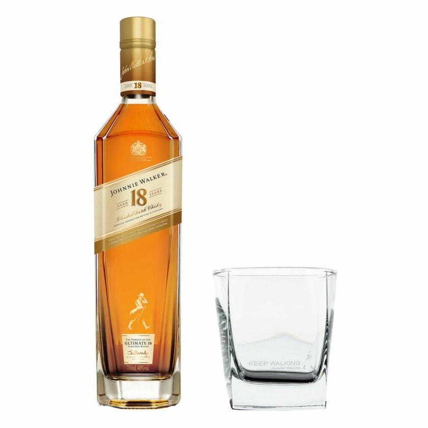 Johnnie Walker Aged 18 Jahre Set mit Tumbler Glas 40% 700 ml