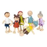 Legler Small Foot Biegepuppen-Familie aus Holz