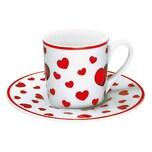 Könitz Little Hearts Espresso Set mit Unterasse 85 ml